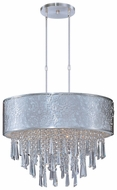 Maxim 22295WTSN Rapture White Shade Large 9-lamp Crystal Hanging Drum Pendant Lighting