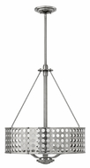 Fredrick Ramond 41524BNI Zephyr Medium 3-lamp Modern Pendant Drum Light