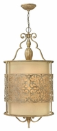 Fredrick Ramond 44624BCH Carabel Tall 4-light Pendant Drum Lighting Fixture