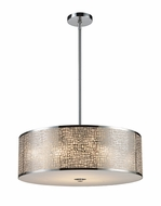 ELK 310435 Medina Large 5-lamp Modern Pendant Lighting in Polished Stainless Steel