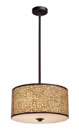ELK 310463 Medina Medium 3-lamp Contemporary Pendant Light Fixture in Aged Bronze