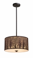 ELK 310743 Woodland Sunrise Medium 3-lamp Contemporary Rustic Pendant Light Fixture