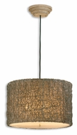 Uttermost 21105 Knotted 19 Inch Diameter Hand Rubbed Ivory Pendant Drum Light Fixture