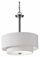 Feiss F2770/3PN Malibu 18 Inch Diameter Polished Nickel Finish Drum Pendant Light - Transitional