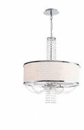 Crystorama 9805-CH Allure Polished Chrome Small 20 Inch Diameter Crystal Drum Lighting Pendant