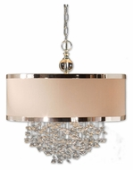 Uttermost 21908 Fascination 22 Inch Diameter Cascading Crystal Pendant Drum Light