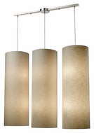 ELK 20160/12L Fabric Cylinders 43 Inch Tall Linear Bar Multi Pendant Lighting