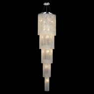 Worldwide W83710C16-5 Prism 19 Lamp 5 Tiered Chrome Entryway Light Fixture