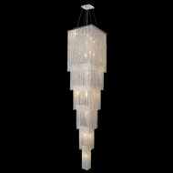 Worldwide W83712C16-6 Prism 6 Tiered Crystal Foyer Light Fixture - 86 Inches Tall