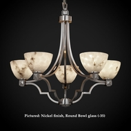 Justice Design FAL-8500 Argyle Lumenaria 27 Inch Diameter 5 Light Chandelier Light Fixture