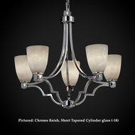 Justice Design CLD-8500 Argyle Cloud Glass Transitional 27 Inch Diameter Chandelier Lighting With Finish Options