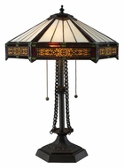 Dimond D1852 Filigree 22 Inch Tall Tiffany Table Lamp - Bronze