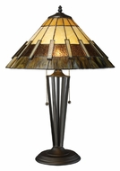 Dimond D1860 Porterdale Tiffany Bronze 23 Inch Tall Bedroom Table Lamp