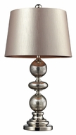 Dimond D2227 Hollis Antique Mercury Glass Champagne Faux-Silk Shade Table Lamp