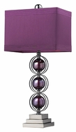 Dimond D2232 Alva Contemporary Purple & Black Nickel Bed Lamp