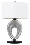 Dimond D2326 Dulce Silver & Black Finish 23 Inch Tall Modern Bed Lamp