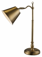Dimond D1837 Hamilton Antique Brass 19 Inch Tall Desk Lamp - Transitional