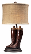 Dimond 93-10012 Wood River Polished Tan Boots Bedroom Table Lamp