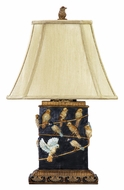 Dimond 93-530 Birds On A Branch 20 Inch Tall Table Lamp With Faux Silk Shade
