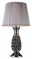 Dimond D1447 Roseto Alisa Silver Finish Living Room Table Lamp - 22 Inches Tall