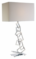 Dimond D1510 Warren Contemporary 29 Inch Tall Chrome Lighting Table Lamp