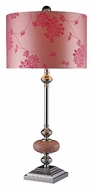 Dimond D1711 Lauren Chrome Finish 30 Inch Tall Pink Table Lamp