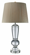 Dimond D1811 Castlebridge Clear Crystal 33 Inch Tall Bedroom Table Lamp