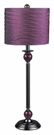 Dimond 111-1114 Carrington Violet Shade Satin Nickel Table Top Lamp