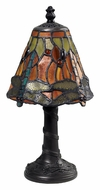 Dimond 126-0012 Mini Tiffany 11 Inch Tall Metal Bed Lamp