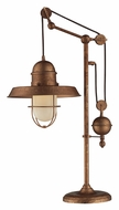Dimond 65062-1 Farmhouse 32 Inch Tall Bellweather Copper Arcing Table Lamp