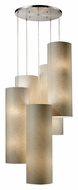ELK 20160/20R Fabric Cylinders 20 Light 35 Inch Tall Spiral Arrangement Multi Pendant