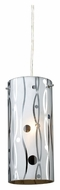 ELK 31077/1 Chromia 4 Inch Diameter Mini Pendant Lighting With Line Design