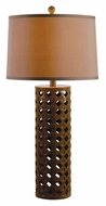 Kenroy Home 32272CHOC Marrakesh 30 Inch Tall Chocolate Finish Bed Lamp
