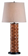 Kenroy Home 37014DWW Shaker 32 Inch Tall Dark Woven Wood Table Lamp