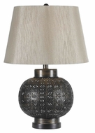 Kenroy Home 32163ABR Seville 24 Inch Tall Aged Bronze Bedroom Table Lamp
