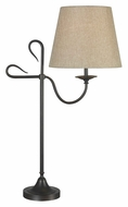 Kenroy Home 32177GFBR Cromwell Golden Flecked Bronze 30 Inch Tall Bell Shade Table Lamp