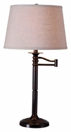 Kenroy Home 32214CBZ Riverside 29 Inch Tall Copper Bronze Transitional Table Lamp