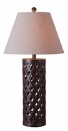 Kenroy Home 32258GFBR Cut Out 29 Inch Tall Golden Flecked Bronze Table Lighting
