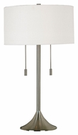 Kenroy Home 21404BS Stowe Transitional Brushed Steel Finish 30 Inch Tall Table Light