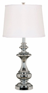 Kenroy Home 21430CH Stratton Chrome Finish 29 Inch Tall Table Lighting