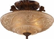 ELK 08101-AGB Restoration 3 Light 19 inch Semi Flush Ceiling Fixture