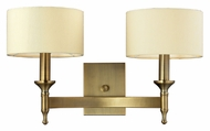 ELK 10261/2 Pembroke 2 Lamp 19 Inch Wide Brass Wall Sconce