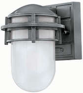 Hinkley 1956HE Reef 1 Light 8 Inch Outdoor Wall Sconce in Hematite
