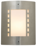 PLC 1873 Paolo Outdoor Lighting Wall Fixture in Satin Nickel