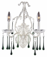 ELK 4000/2LM Opulence Lime Crystal 15 Inch Tall 2 Candle Sconce