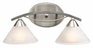 ELK 7631/2 Elysburg 2 Lamp 18 Inch Wide Bath Light Fixture With Marblized White Glass