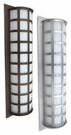 Besa Scala Transitional Style 27 Inch Tall Gridded Outdoor Sconce Lighting