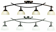 Kichler 42164 Bellamy Large 5 Lamp Contemporary Ceiling Mount Monorail Lighting