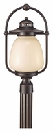 Feiss OLPL7408GBZ Mc Coy Grecian Bronze Small Outdoor Post Light - Fluorescent