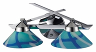 ELK 1471/2CAR Refraction 16 Inch Wide 2 Lamp Carribean Glass Lighting For Bathroom - Polished Chrome